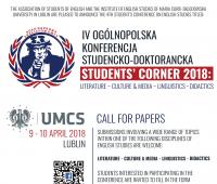 "Konferencja ""Students' Corner 2018"" –..."