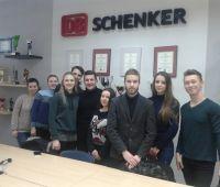 Studenci w DS Schenker
