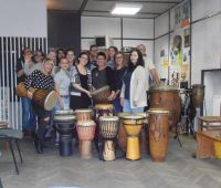 Drum workshop at Chatka Żaka