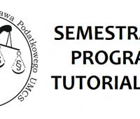 Semestralny Program Tutorialowy