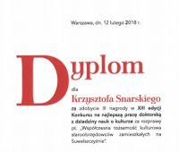 Nagroda dla dr Krzysztofa Snarskiego