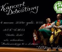 Koncert Debiutowy Zespołu Tańca Ludowego UMCS - zaproszenie