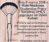 Dzień Kobiet ze studentami Koła Naukowego Pracy Socjalnej