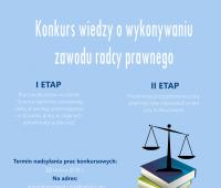 Konkurs wiedzy o wykonywaniu zawodu radcy prawnego