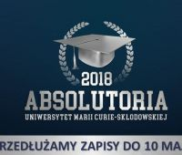 Absolutoria 2018 – przedłużone zapisy do 10 maja!