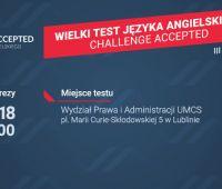 """Wielki Test Języka Angielskiego """"Challenge Accepted"""" -..."""