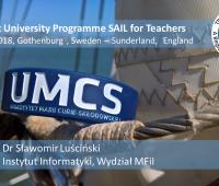 dr Sławomir Luściński z Instytutu Informatyki UMCS...