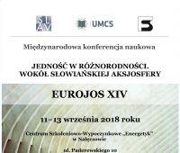 Konferencja EUROJOS XIV, Nałęczów, 11-13 września 2018 r.