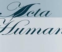 "Nabór tekstów do czasopisma ""Acta Humana"""