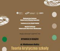 Zaproszenie na dyskusję o książce dr. Waldemara Buliry