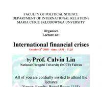 Zaproszenie na wykłady prof. Calvina Lina