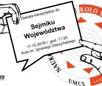 Debata kandydatów do Sejmiku Województwa