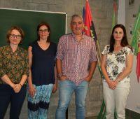 A Dra. Sílvia Parreiral e a Dra. Carla Patrão - visita no...