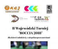 """II Wojewódzki Turniej """"Boccia 2018"""" dla dzieci..."""