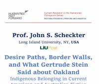 Zaproszenie na wykład prof. Johna S. Schecktera
