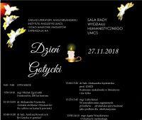 Zaproszenie na Dzień Gotycki (27 listopada 2018 r.)