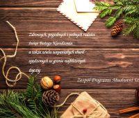 Życzenia świąteczne od Zespołu Programu Absolwent