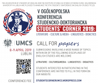 """""""Students' Corner 2019"""" conference – call..."""