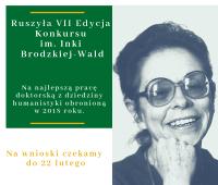 VII edycja Konkursu im. Inki Brodzkiej-Wald
