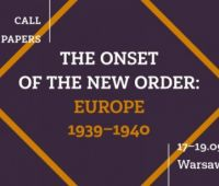"Konferencja: ""The Onset of the New Order: Europe 1939-1940"""