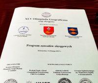 XLV Olimipada Geograficzna - program i fotorelacja
