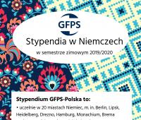 Stypendia Stowarzyszenia GFPS w Niemczech w zimie 2019/20