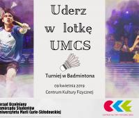 """""""Uderz w lotkę UMCS"""" - Turniej w Badmintona"""