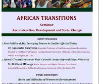 "Seminarium: ""African Transitions. Reconstruction,..."