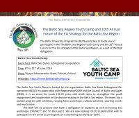 """""""The Baltic Sea Youth Camp"""" - zaproszenie dla..."""