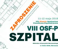 VIII Otwarte Seminarium Filozoficzno-Psychiatryczne pt....