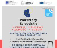 Warsztaty europejskie dla uczniów szkół średnich