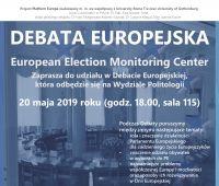 Debata Europejska na Wydziale Politologii UMCS (20.05.)