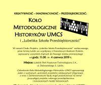 Koło Metodologiczne Historyków UMCS w finale Lubelskiej...