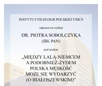 Zaproszenie na wykład dr. Piotra Sobolczyka (14.06.)