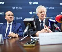 Konferencja prasowa władz uczelni