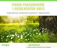 Piknik Pracowników i Absolwentów UMCS. Najczęściej...