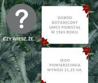 Ciekawostki na temat Ogrodu Botanicznego UMCS