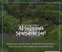 Piknik Pracowników i Absolwentów UMCS 2019 - rejestracja...