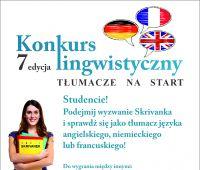 Konkurs tłumaczeniowy - angielski, niemiecki, francuski