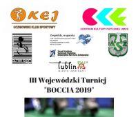"""III Wojewódzki Turniej """"Boccia 2019"""""""