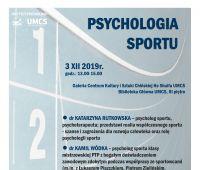 Oferta edukacyjna UMCS. Psychologia sportu. 3.XII 2019
