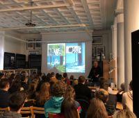 Studenci na wykładzie w Centrum Brytyjskim UMCS