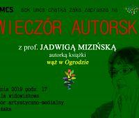 Wieczór autorski z prof. Jadwigą Mizińską