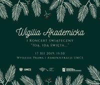 Wigilia Akademicka 2019 - zaproszenie