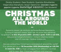 Zaproszenie na spotkanie świąteczne CHRISTMAS ALL AROUND...