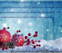 Życzenia świąteczne dla pracowników INoPiA