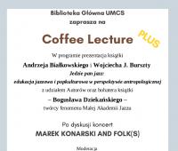 Coffee Lecture oraz koncert jazzowy (23.01.)