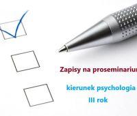 Zapisy na proseminarium - Psychologia