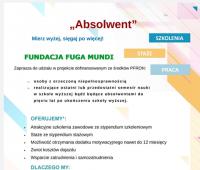 Projekt Absolwent - Agencja Zatrudnienia Fundacji Fuga Mundi