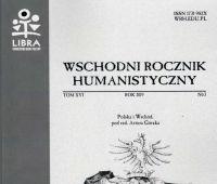 """""""Wschodni Rocznik Humanistyczny"""" - nowe numery"""